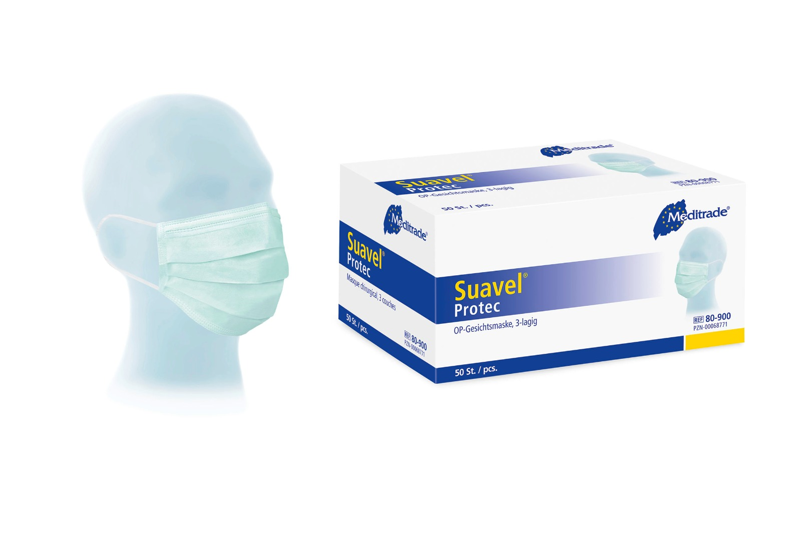 Meditrade Suavel® Protec OP-Masken 3-lagig  50 Stück