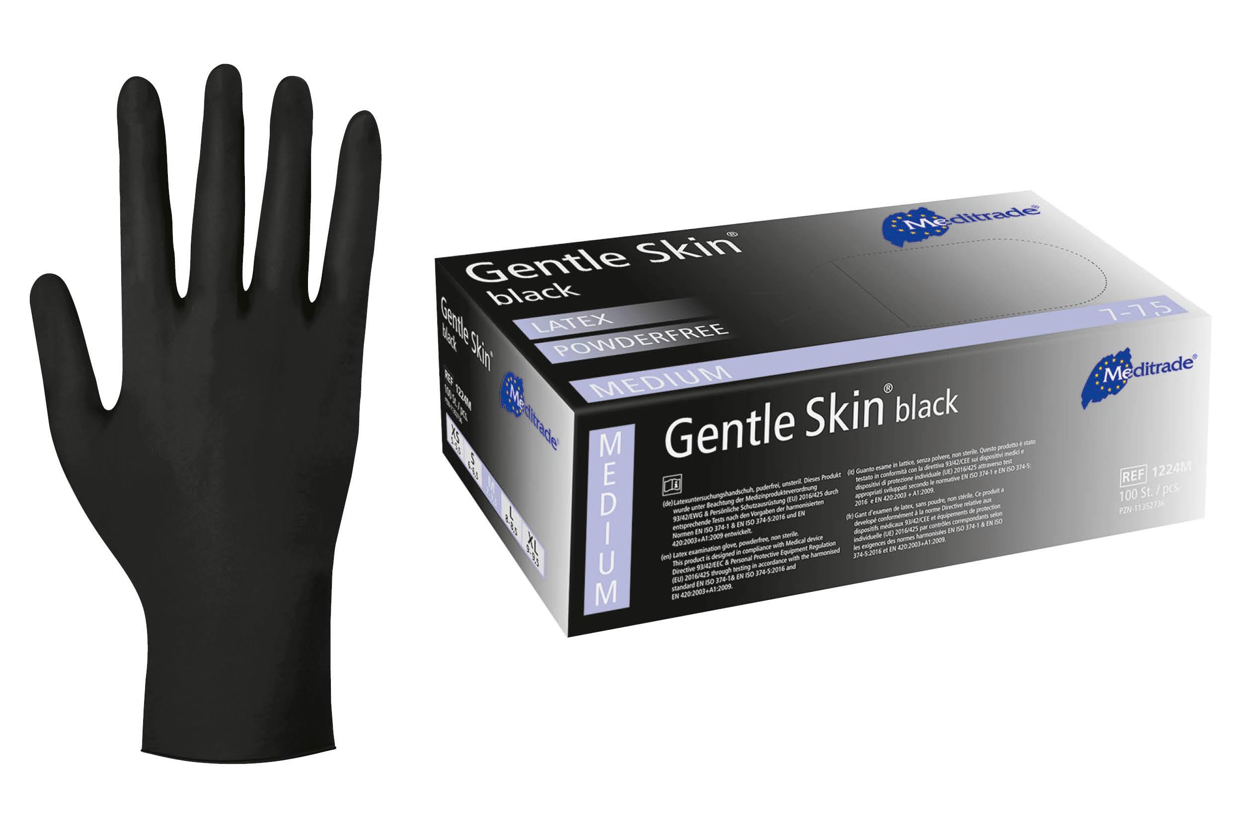 Meditrade GENTLE SKIN® BLACK Größe S - M - L - XL