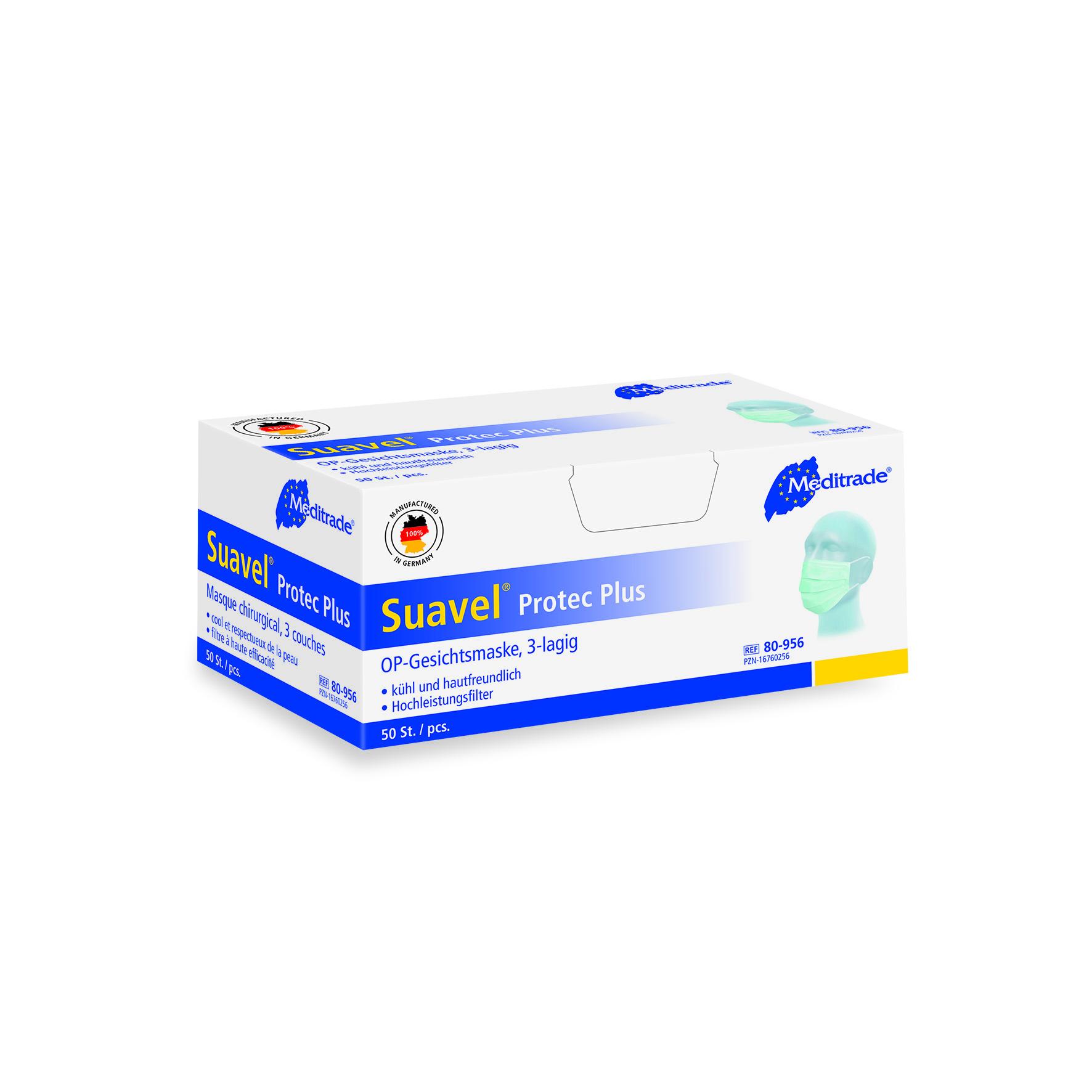 Meditrade Suavel® Protec Plus OP-Masken 3-lagig  50 Stück