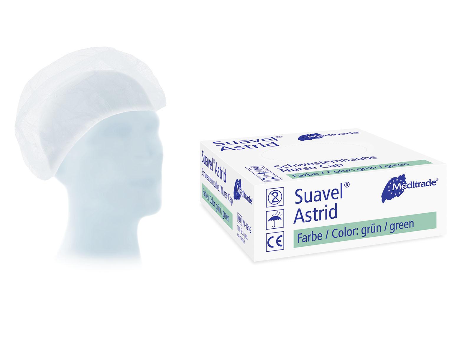 Meditrade SUAVEL® ASTRID Kopfhaube blau