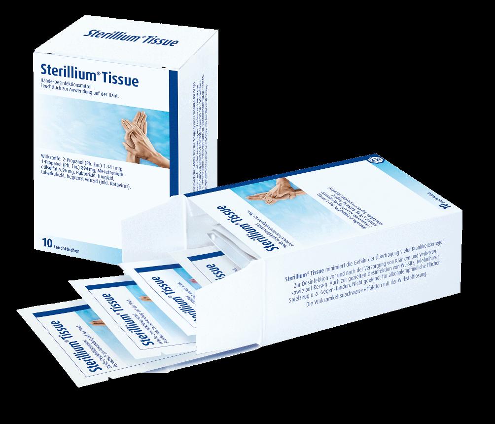 Sterillium® Tissue Packung mit 10 Tüchern